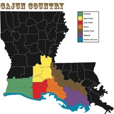 Map of Cajun Country.