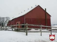Red Amish barn