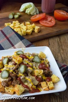 Bacon Cheeseburger Chili | Crockpot | Slow Cooker | Low Carb