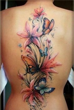 The design is nice {I love the colors & the flow, however I would put it on my thigh.