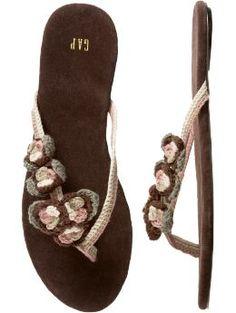 Gap com Women Shop Women s Styles Crochet flower flip flops Flip Flops Shoes