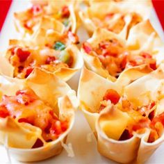 Chipotle Chicken Cups.  Sould try this with cilantro lime rice & black beans