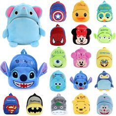 Cartoon Plush Backpack Shoulder Schoolbag Rucksack Toddler Bags For Baby Kids Baby Girl Bags, Girls Bags, Baby Kids, Baby Boy, School Bags For Boys, Mcm Backpack, Back Bag, Pencil Pouch, Cute Bags