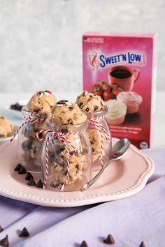 Try our Sweet'N Low recipe for Edible Chocolate Chip Cookie Dough! Making Cookies, How To Make Cookies, Eggless Desserts, Sweet Desserts, Chocolate Chip Cookie Dough, Chocolate Chips, Sweet And Low, Low Sugar, Sea Salt