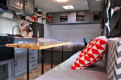 Living in a shoebox     From outdated trailer to trendy tiny home