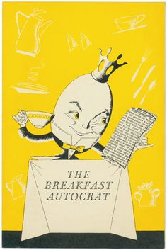 Breakfast Autocrat, Hotel New Yorker, New York, 1950s