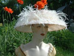 Elegant Pale Peach, Kentucky Derby, Straw Hat     $200