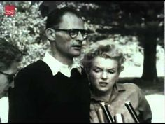 Marilyn Monroe and Arthur Miller at a press conference