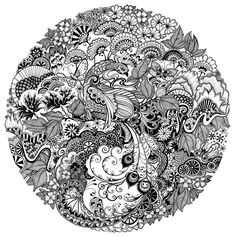 Very detailed doodle art