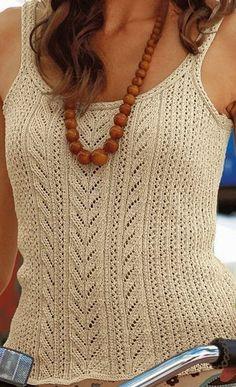 Tank Top free crochet graph pattern.