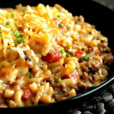 Easy Homemade Hamburger Helper -- cooks all in one pot! So quick and easy, you'll never go back to the box.