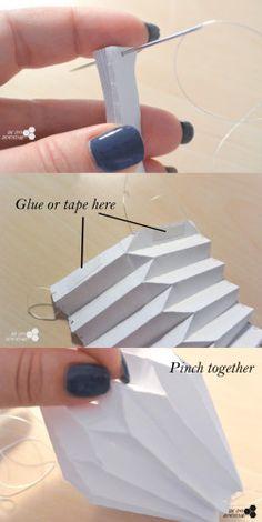 DIY origami ball - folding
