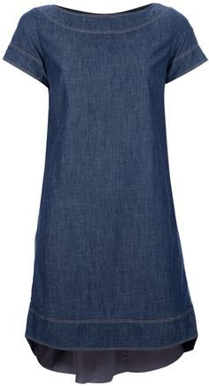a denim dress - perfect canvas for creating literally ANY type of outfit Linen Dresses, Cute Dresses, Casual Dresses, Short Dresses, Casual Outfits, Fashion Dresses, Denim Dresses, Maxi Dresses, Beautiful Dresses