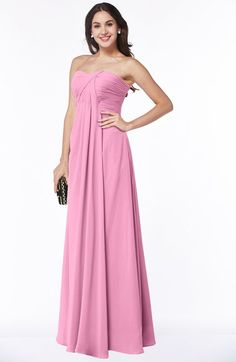 678fd030c0c Pink Simple A-line Sleeveless Zip up Chiffon Pleated Plus Size Bridesmaid  Dresses Mismatched Bridesmaid
