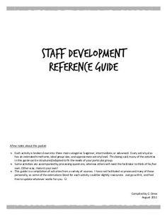 Staff Development- icebreakers/teambuilders/reflections