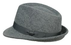 210d6ae734 Unisex Mens Women Grey Classic 100% Felt Wool Trilby Hat Fedora Style 4  Sizes. Cappello Da Donna FedoraFedoraCappelli Da UomoPorcoFeltro Di LanaThe  100
