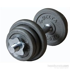 Delta 38 Kg Gri Döküm Plaka & 36 Cm X 2 Krom Bar Seti - Gd 2570