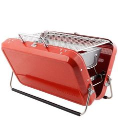 Take the BBQ party to go with the Briefcase Barbecue from Kikkerland at Art Effect Cheap Greenhouse, Home Greenhouse, Greenhouse Ideas, Underground Greenhouse, Homemade Greenhouse, Portable Greenhouse, Portable Charcoal Grill, Portable Grill, Bbq Stand