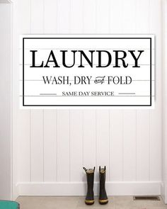 Laundry Room Sign - Farmhouse wall art