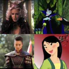 Once upon a time characters matched with Disney ( Mallifecent and ...
