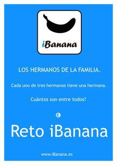Reto iBanana: Necesitamos vuestra ayuda! Nos ayudáis a encontrar la repuesta? Suerte Compártelo!