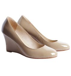 Nude wedges- perfect for bridesmaids