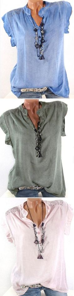 UP TO 53% OFF! Women Sleeveless Sequins Decorated Casual Shirts.  SHOP NOW!