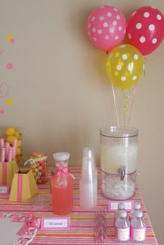 sample of candy table