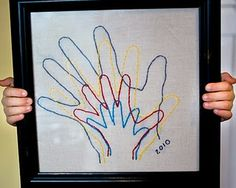 Hand silhouettes fun diy crafts, crafts for kids, craft kids, kids diy, s. Bee Crafts, Crafts To Make, Crafts For Kids, Arts And Crafts, Craft Kids, Santa Crafts, Kids Diy, Craft Projects, Sewing Projects