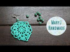 Tutorial 10 .Orecchini Facili all'uncinetto   Crochet Earrings - YouTube