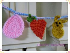 Easter garland with pattern