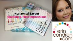 Erin Condren Horizontal Layout Life Planner First Impressions