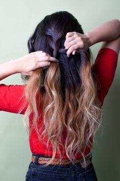 Two toned hair is too cool. Would look neat in a braid!