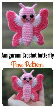 Crochet Amigurumi Butterfly Free Pattern