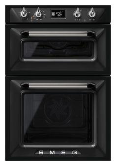 Black Smeg Victoria Double Oven