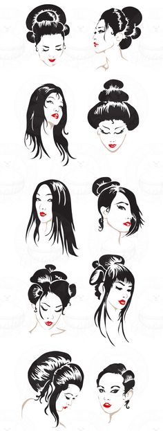 Available at http://www.sugarbeargraphics.com/index.php?act=viewProd&productId=201    Limited Set of 10 Geisha Portraits