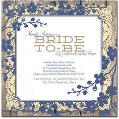 Vintage Bridal Shower Invitation 5x5 Square Lace Wood Vintage Rustic... ($20) ❤ liked on Polyvore