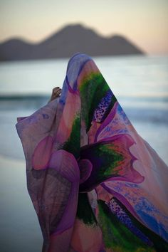 Inna Zobova wears INNANGELO beach pareo.