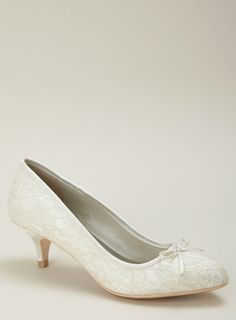 Kitty lace kitten heel bridal shoe