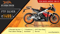 Offering special packages for bikes above 180cc! Periodic service, Breakdown assistance, with Door-step service 24/7  🙂 Contact us here: https://goo.gl/fuULQZ #BikeService #Marathahalli