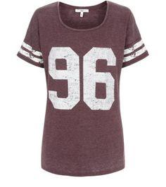 Burgundy Burnout 96 Sports T-Shirt