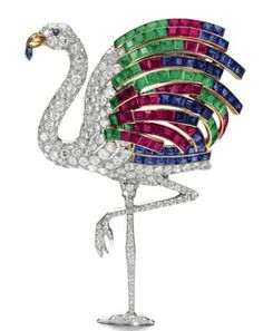 Duchess of Windsor Flamingo Brooch CollectingFineJewels: Cartier