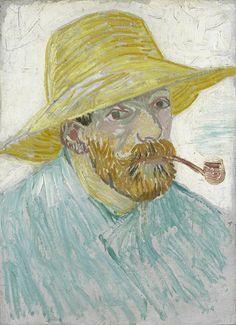 Van Gogh had little money, so instead of hiring models he bought himself a good mirror and started painting self-portraits. Vincent van Gogh (1853 – 1890), Self-portrait with Pipe and Straw Hat, 1887, Van Gogh Museum, Amsterdam (Vincent van Gogh Foundation)532904_10154764284800597_1217158378865680694_n.jpg (435×600)