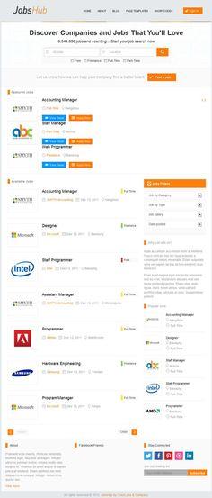 JobsHub WordPress Theme - Job Listing WP Theme