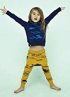Mini_Maximus_booyah collection sharks sweater and pants. Love the kiddo styled items..