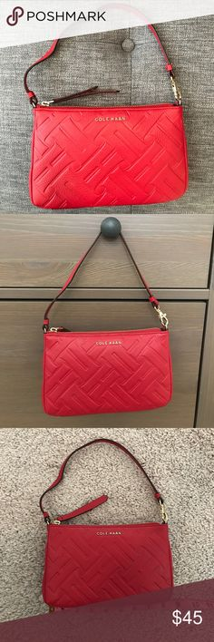 Cole Haan Purse Brand New!! Cole Haan red clutch perfect for anytime! Cole Haan Bags Clutches & Wristlets