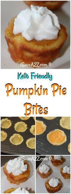 Keto Pumpkin Pie Bites  via @isavea2z