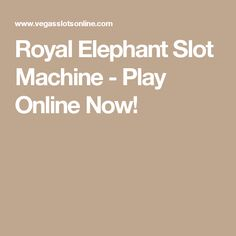There are 40 paylines and expanded elephant symbols to watch out for in Royal Elephant, a slot with an Indian theme from Everi Free Slot Games, Free Slots, Indian Theme, Play Online, Slot Machine, Elephant, Elephants, Arcade Machine