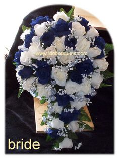 Our wedding colors...navy blue and silver
