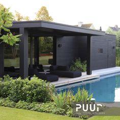 Outdoor Patio Designs, Outdoor Landscaping, Outdoor Gardens, Modern Pool House, Moderne Pools, Swimming Pools Backyard, Gazebo, Building Exterior, Garden Seating